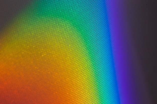 Gradiente spettrale della luce solare proveniente da un prisma.
