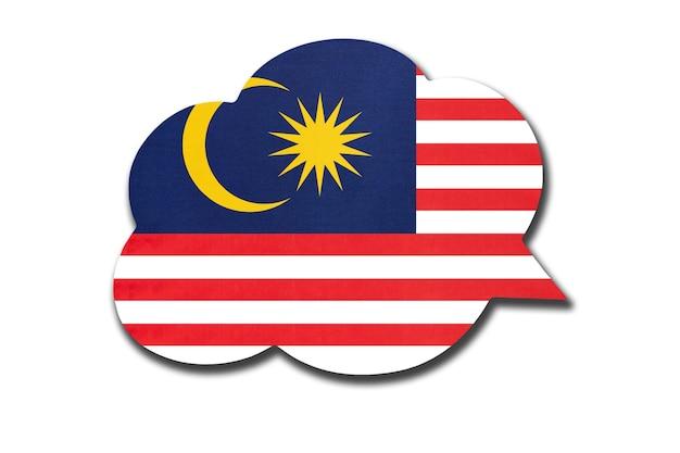 Fumetto con bandiera nazionale della malesia