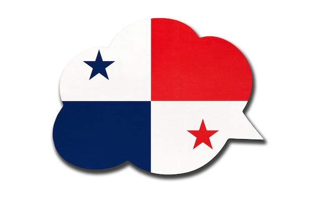 Fumetto con bandiera nazionale panamense isolata