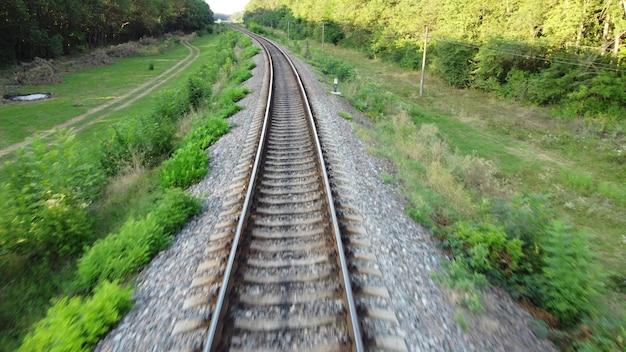 La velocità di volo sui binari dei binari su cui il treno va fuori città.