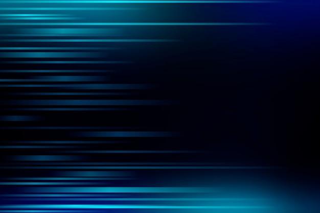 Veloci flussi di luce su sfondo blu a motivi geometrici