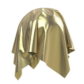Sfera ricoperta di tessuto lucido dorato