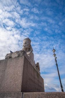 Statua della sfinge nella città di san pietroburgo
