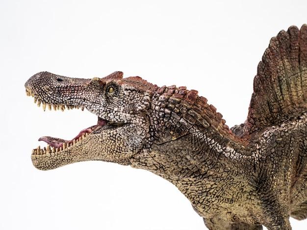 Spinosaurus, dinosauro su bianco
