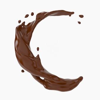 Una spruzzata di cioccolato.
