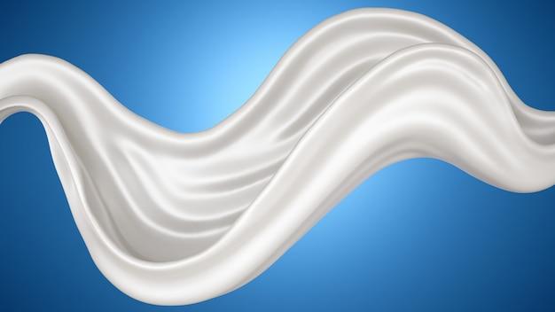 Una spruzzata di latte su un blu.