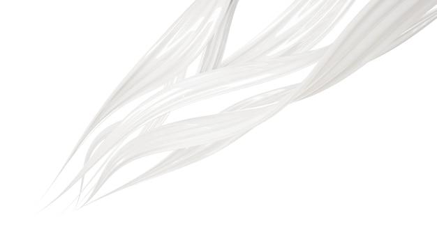 Spruzzata di liquido bianco denso. illustrazione 3d, rendering 3d.