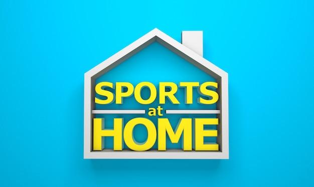 Sport a casa. rendering 3d. copia spazio per il testo.