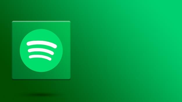 Logo spotify sulla piattaforma 3d