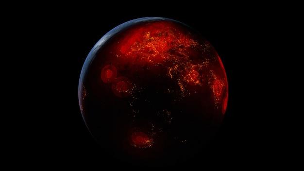 Diffondere il virus in tutto il mondo del pianeta terra