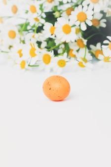 Composizione primaverile margherite uovo di pasqua decorativo, floreale