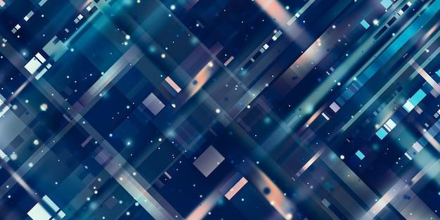 Quadrato di pixel blu led pixel sfondo 3d illustrazione