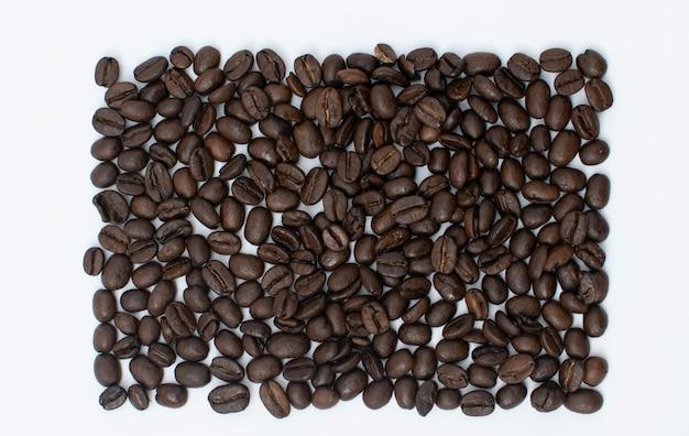 Chicchi di caffè di configurazione quadrata