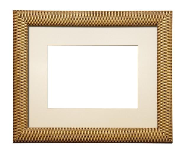 Cornice quadrata in legno per aggiungere la tua foto isolata su bianco