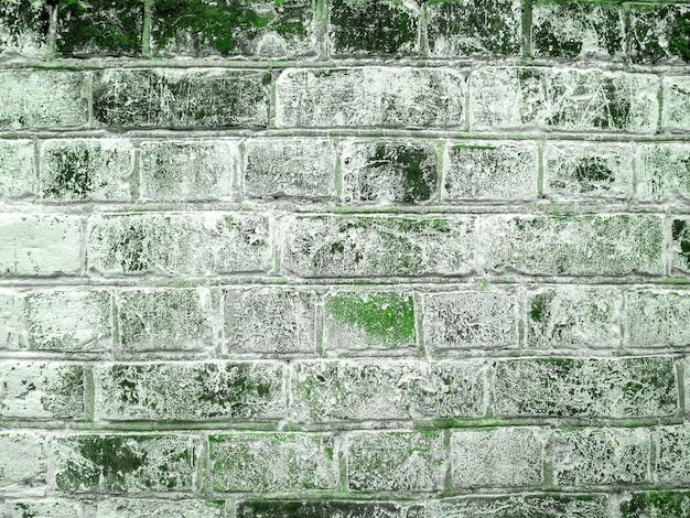 Giorno di san patrizio vecchio grunge texture muro di mattoni verdi. modello astratto. sfondo luminoso.