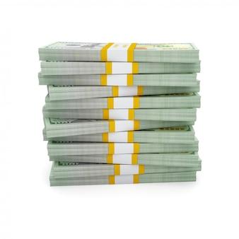 Pila di nuove fatture dell'edizione 2013 dei dollari americani