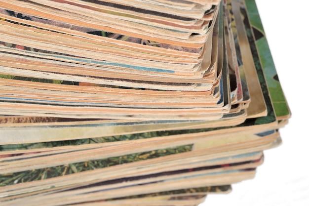 Pila di vecchie riviste