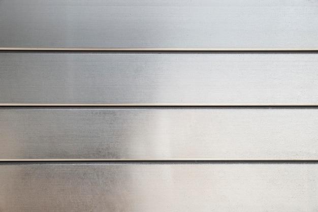 Sfondo di linee orizzontali in metallo inossidabile