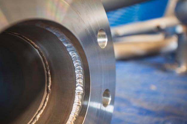 Componente della valvola della flangia della tubazione in acciaio inossidabile fabbricazione del recipiente a pressione con giunto saldato tig gtaw