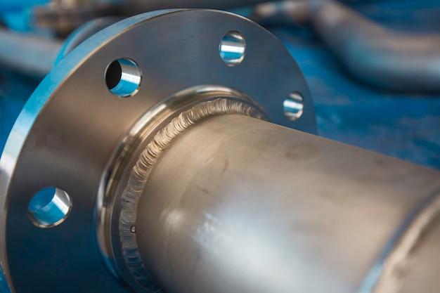Componente della valvola flangiata per tubazioni in acciaio inossidabile fabbricazione di recipienti a pressione con giunto saldato tig gtaw