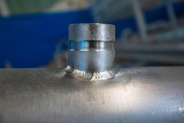 Componente della valvola con presa per tubazioni in acciaio inossidabile fabbricazione di recipienti a pressione con giunto saldato tig gtaw