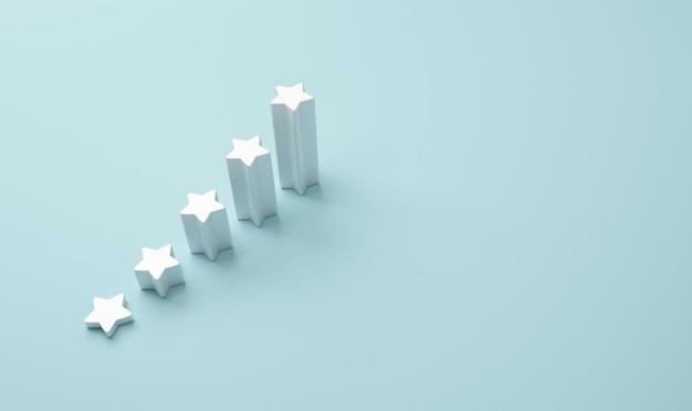 Forma della scala con le cinque stelle.