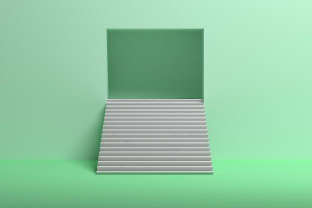 Scale che conducono in alto con spazio nel muro