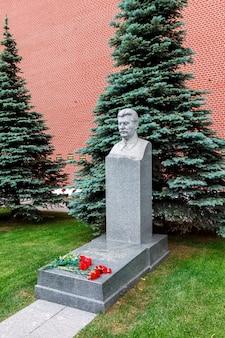 La tomba di stalin alle mura del cremlino di mosca sulla piazza rossa. mosca, russia