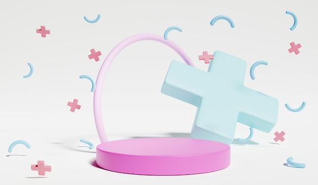 Alzati e mostra il pastello all'interno della stanza del bambino. rendering 3d.
