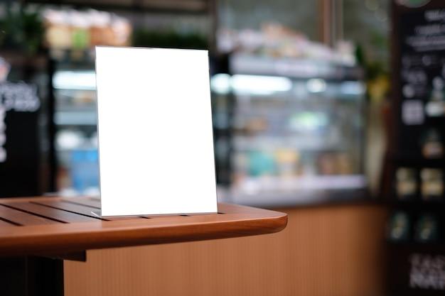 Stand menu cornice tenda carta sfondo sfocato layout visivo chiave di progettazione.