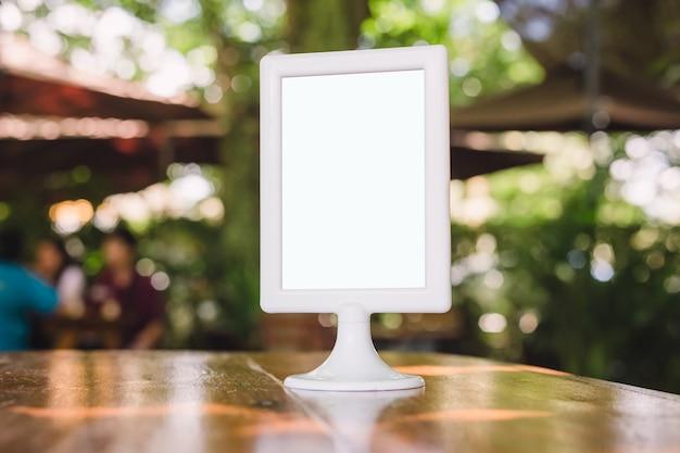 Stand mock up menu frame