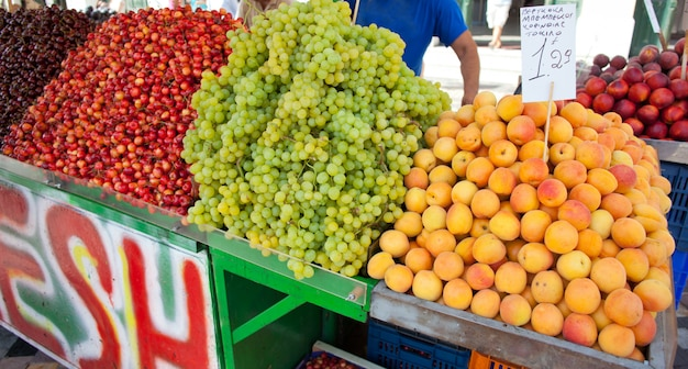 Stand con frutta ad atene