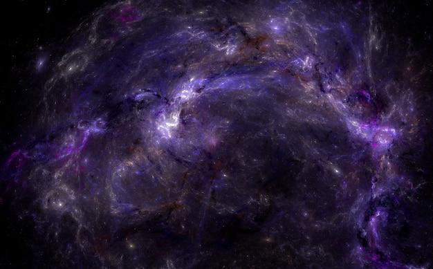 Sfondo campo stellare. magico cielo notturno viola.