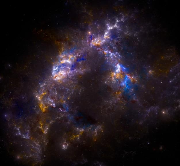 Sfondo del campo stellare. sfondo stellato spazio esterno