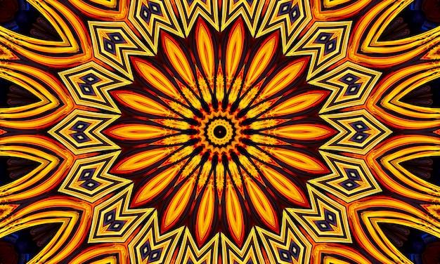 Fondo del caleidoscopio della stella. bella trama caleidoscopio multicolore. design unico del caleidoscopio, forma unica, trama meravigliosa, motivo astratto viola