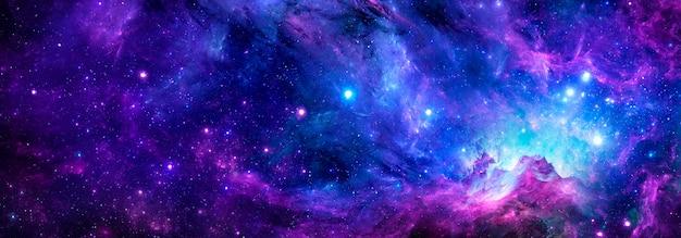 Nebulosa stellare e galassia dello spazio profondo nell'universo, sfondo cosmico