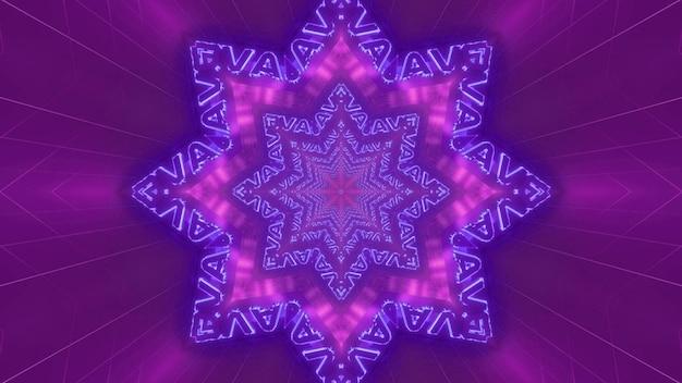 Fondo dell'illustrazione del tunnel 3d della galassia dello spazio del testo astratto blu di 4k uhd a forma di stella