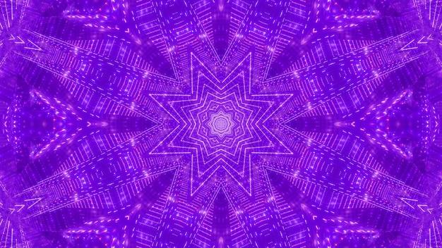 Star visual caleidoscopio 3d'illustrazione