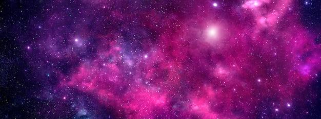 Un cielo stellato con polvere cosmica e una nebulosa con stelle