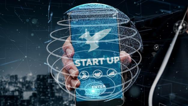 Start up business di persone creative concettuale