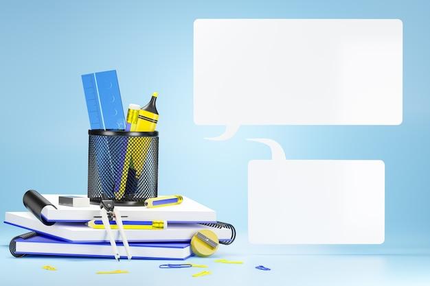 L'apparecchiatura fissa o per ufficio in un blu