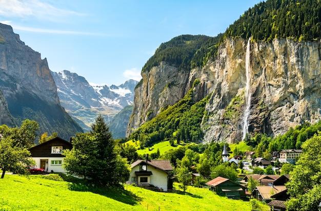 Le cascate di staubbach a lauterbrunnen Foto Premium