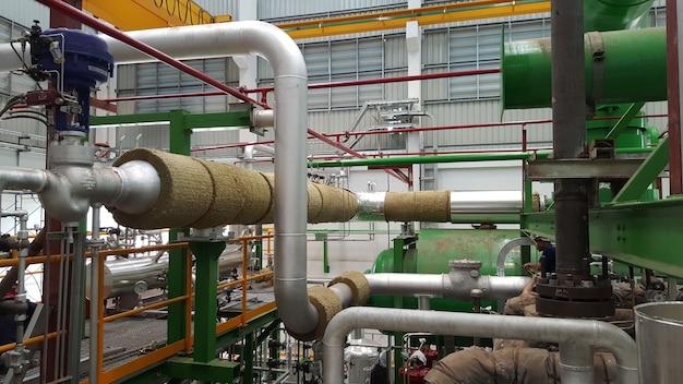 Isolamento del tubo del vapore per la turbina a vapore della centrale elettrica