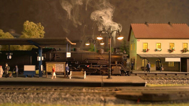Locomotiva del treno a vapore.