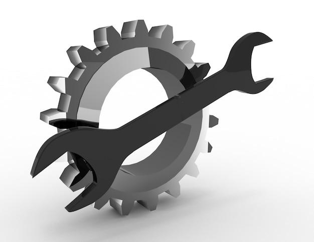 Attrezzo per ingranaggi e chiavi in acciaio