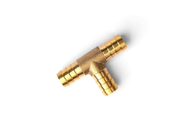 Attacco rapido pneumatico in acciaio isolato.