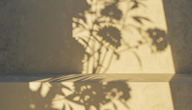 Sfondo del podio con ombre
