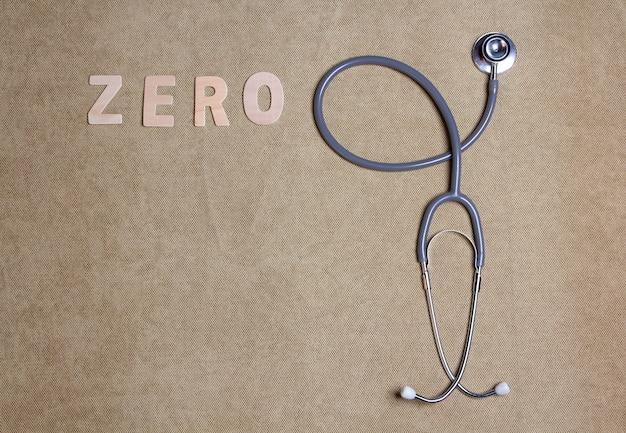 Stetoscopio con copia spazio, concetto controllo sanitario annuale.