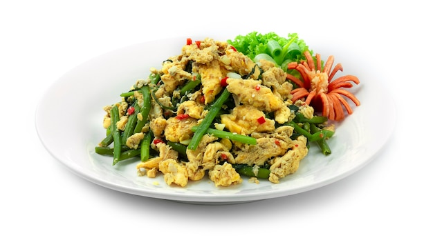 Stir fried chinese swamp morning groly con egg thaicuisine fusion healthy cleanfood e dietfood