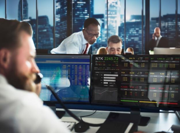 Stock exchange trading forex finance concept grafico